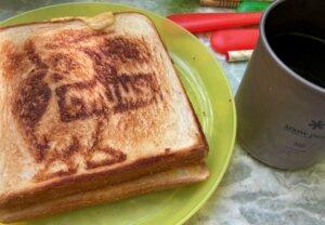 CHUMSのホットサンドウィッチクッカーを使った朝ご飯